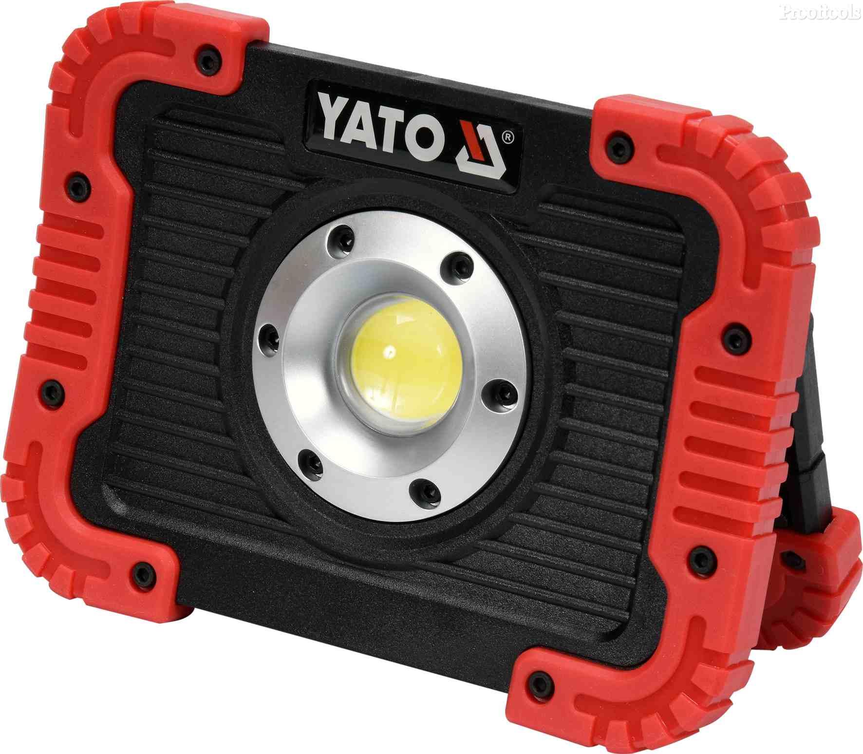 YATO LED LAMPE 10W 800LM OPPLADBAR M USB